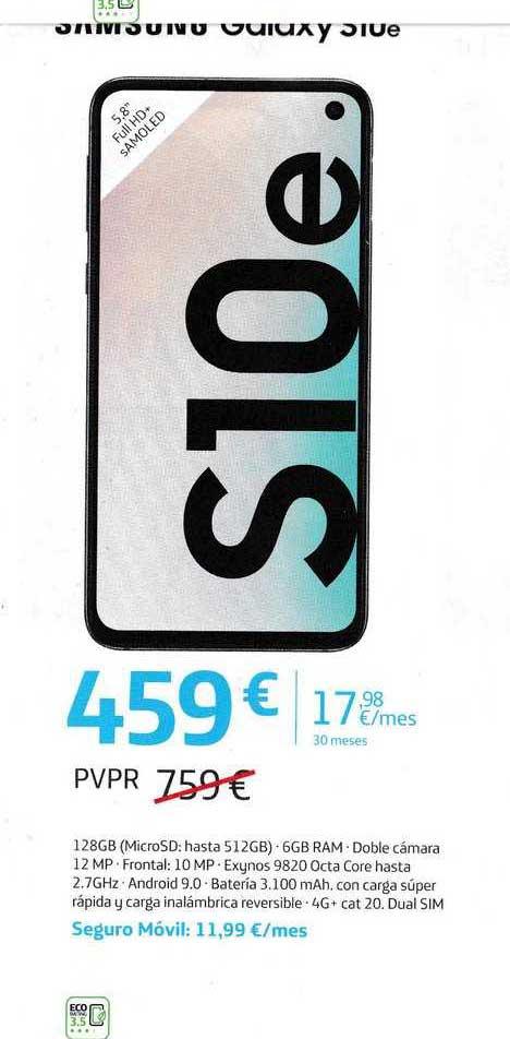 Movistar Samsung Galaxy S10e
