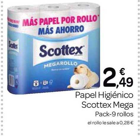Supermercados El Jamón Papel Higiénico Scottex Mega Pack-9 Rollos