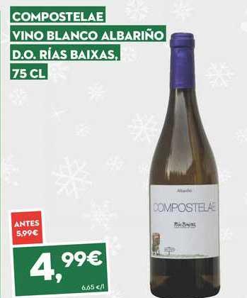 SuperSol Compostelae Vino Blanco Albariño D.o. Rías Baixas, 75 Cl