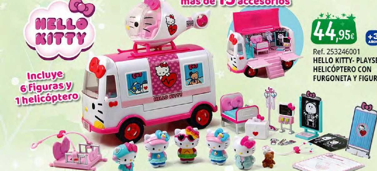 Juguetilandia Hello Kitty- Playset Helicóptero Con Furgoneta Y Figuras