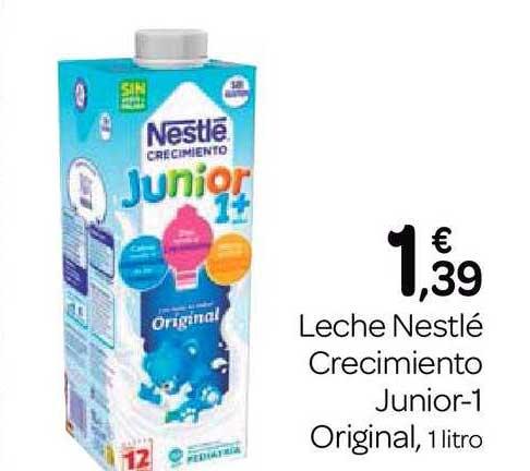 Supermercados El Jamón Leche Nestlé Crecimiento Junior-1 Original, 1 Litro