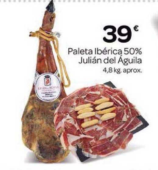 Supermercados El Jamón Paleta Ibérica 50% Julián Del águila