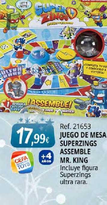 Juguetilandia Ref. 21653 Juego De Mesa Superzings Assemble Mr. King