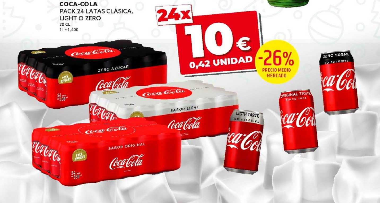 Dealz -26% Precio Medio Mercado Coca-cola Pack 24 Latas Clásica, Light O Zero 30 Cl
