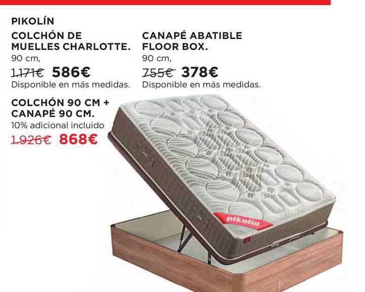 Hipercor Pikolín Colchón De Muelles Charlotte ∕ Canapé Abatible Floor Box