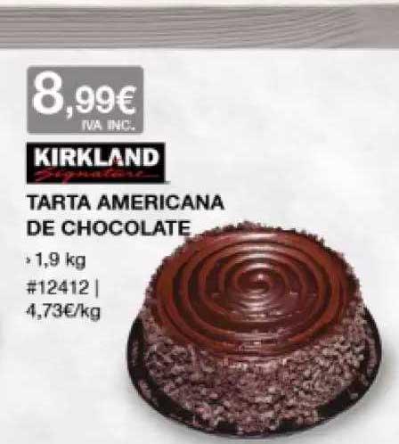 Costco Kirkland Tarta Americana De Chocolate