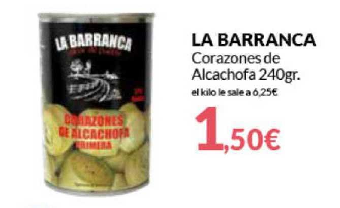 Primaprix La Barranca Corazones De Alcachofa 240gr