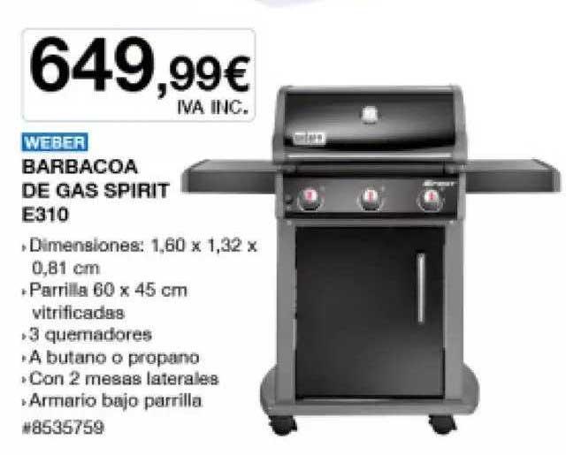 Costco Weber Barbacoa De Gas Spirit E310