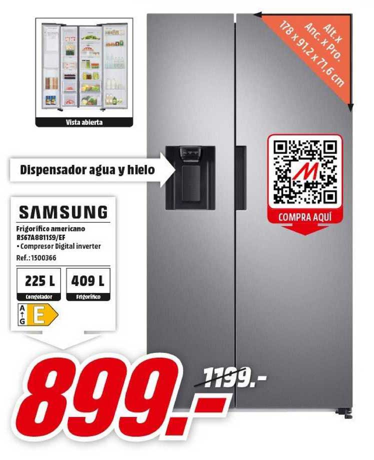 MediaMarkt Samsung Frigorifico Americano Rs67a8811s9.ef