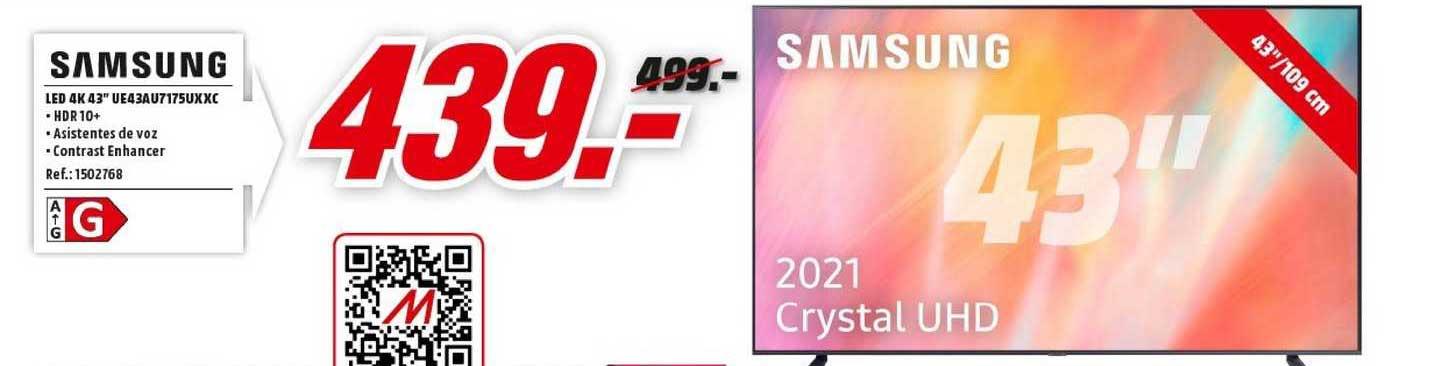 MediaMarkt Samsung Led 4k 43