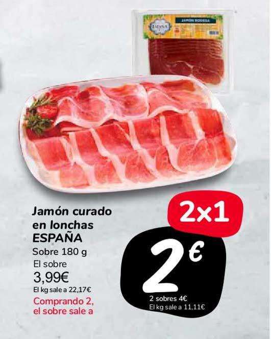 Carrefour Market Jamón Curado En Lonchas España