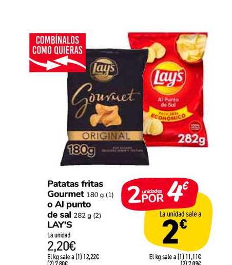 Carrefour Market Patatas Fritas Gourmet O Al Punto De Sal Lay's