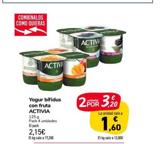 Carrefour Market Yogur Bífidus Con Fruta Activia