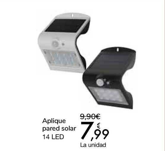 Carrefour Aplique Pared Solar 14 LED
