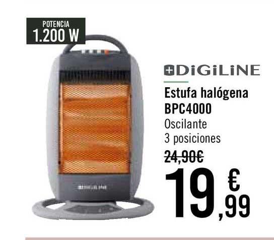 Carrefour Digiline Estufa Halógena Bpc4000