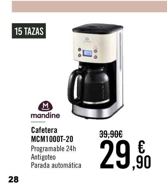 Carrefour Mandine Cafetera Mcm1000t-20