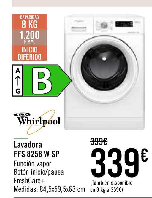 Carrefour Whirlpool Lavadora FFS 8258 W SP