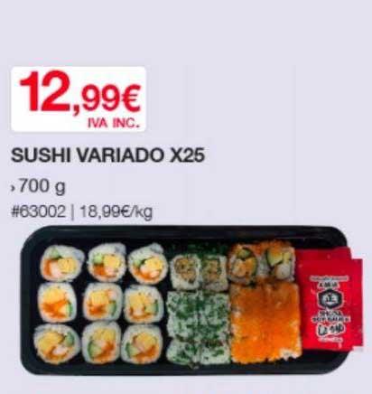 Costco Sushi Variado X25
