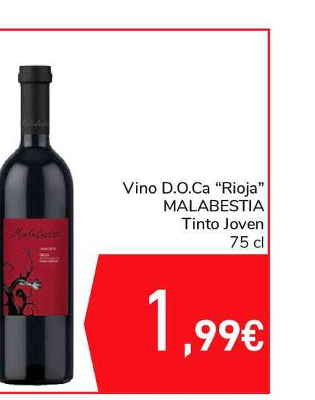 Carrefour Vino D.o.ca. Rioja Malabestia Tinto Joven 75 Cl
