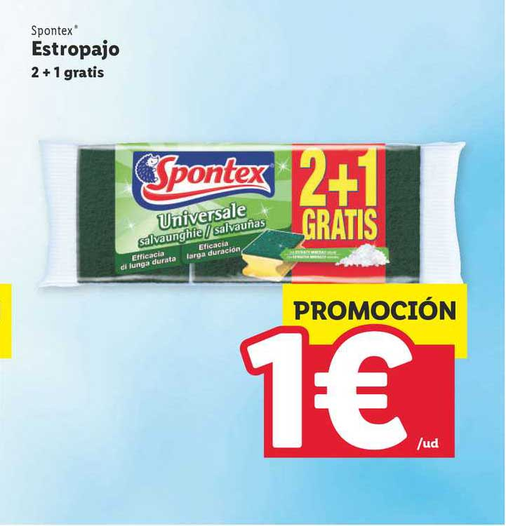 SPONTEX estropajo acero inoxidable bolsa 2 1 gratis