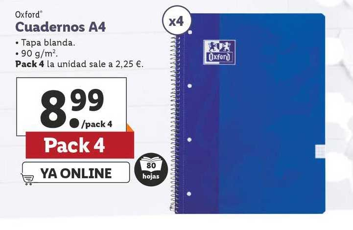 LIDL Oxford Cuadernos A4