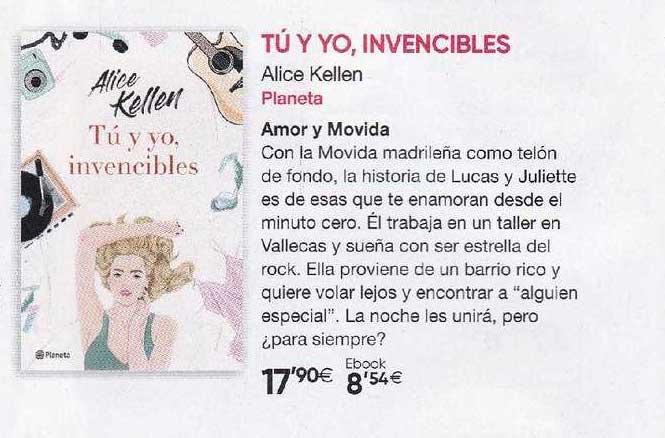 Fnac Tú Y Yo Invencibles Alice Kellen