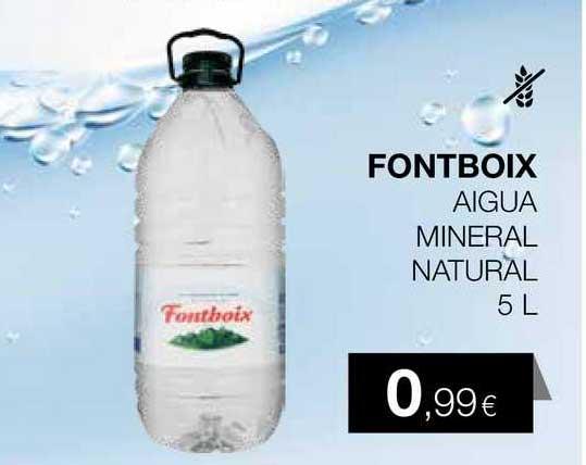Plusfresc Fontboix Aigua Mineral Natural