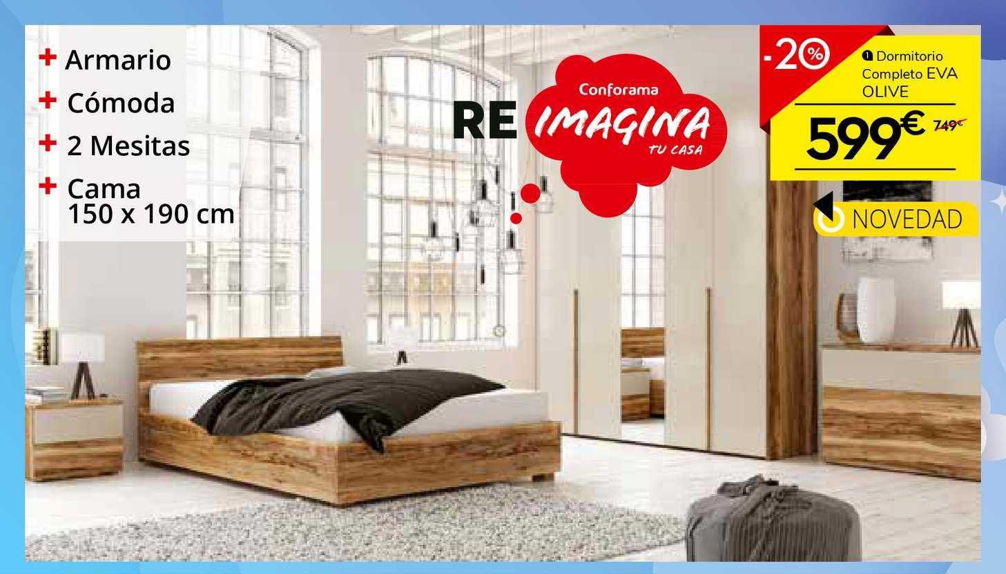 Conforama -20% Dormitorio Completo Eva Olive