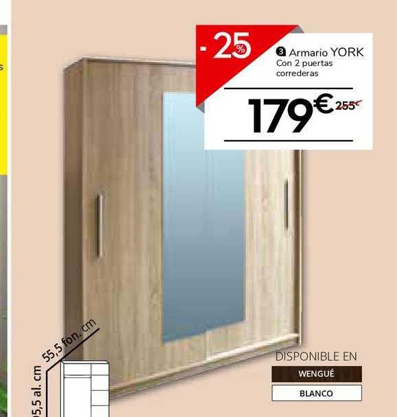 Conforama -25% Armario York Con 2 Puertas Correderas