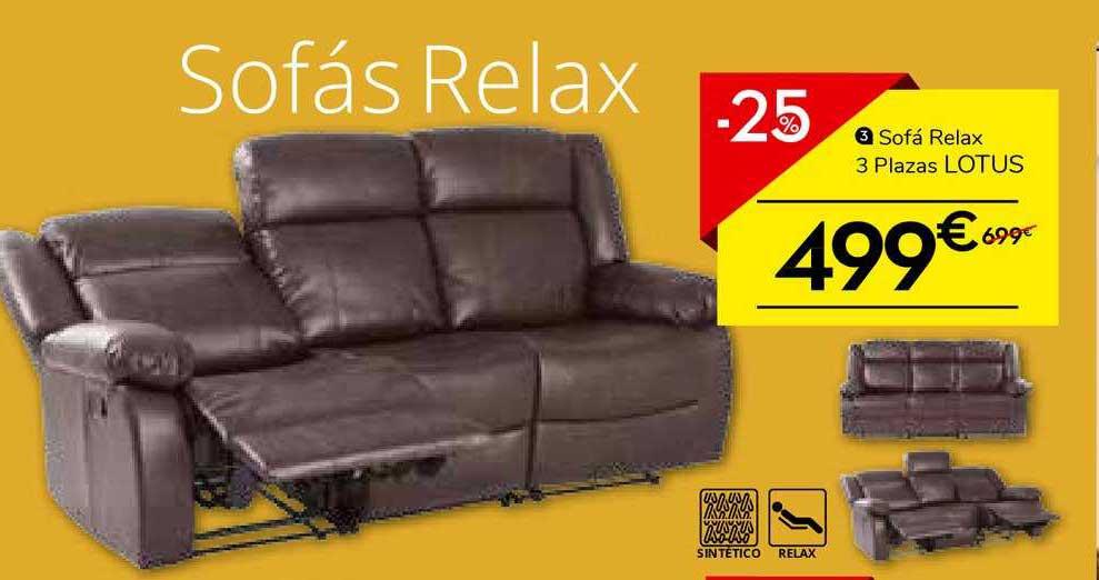 Conforama -25% Sofá Relax 3 Plazas Lotus