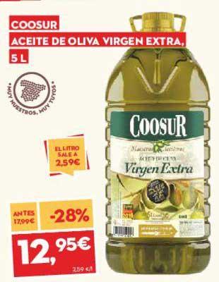 SuperSol -28% Coosur Aceite De Oliva Virgen Extra 5 L
