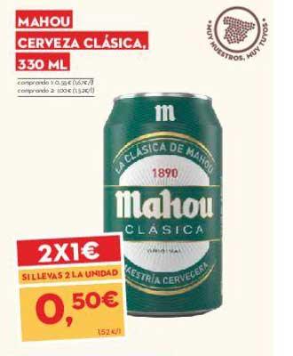 SuperSol 2x1€ Mahou Cerveza Clásica 330 Ml