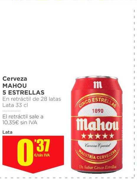 Makro Cerveza Mahou 5 Estrellas