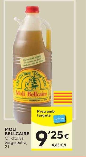 Caprabo Molí Bellcaire Oli D'oliva Verge Extra, 2 L