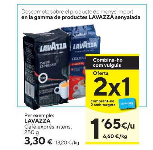 Caprabo Oferta 2x1 Lavazza Café Exprés Intens, 250 G
