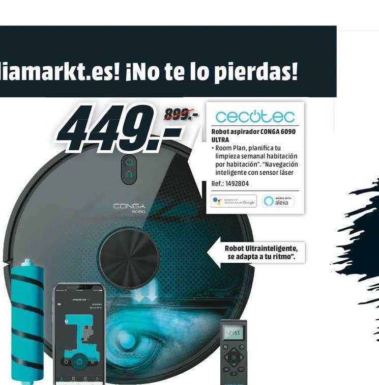 MediaMarkt Cecotec Robot Aspirador Conga 6090 Ultra