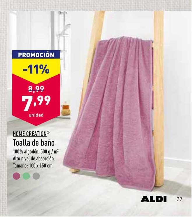 ALDI Home Creation Toalla De Baño
