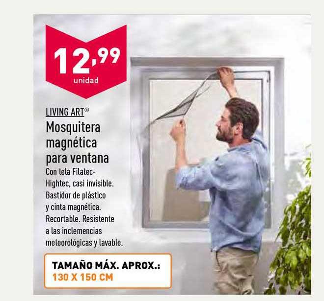 ALDI Living Art Mosquitera Magnética Para Ventana