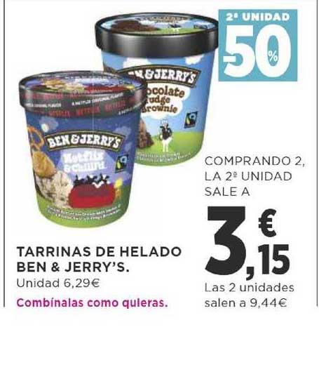 Supercor 2ª Unidad -50% Tarrinas De Helado Ben & Jerry's