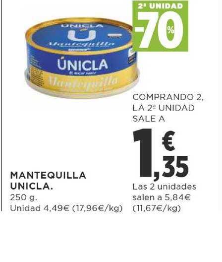 Supercor 2ª Unidad -70% Mantequilla únicla 250 G