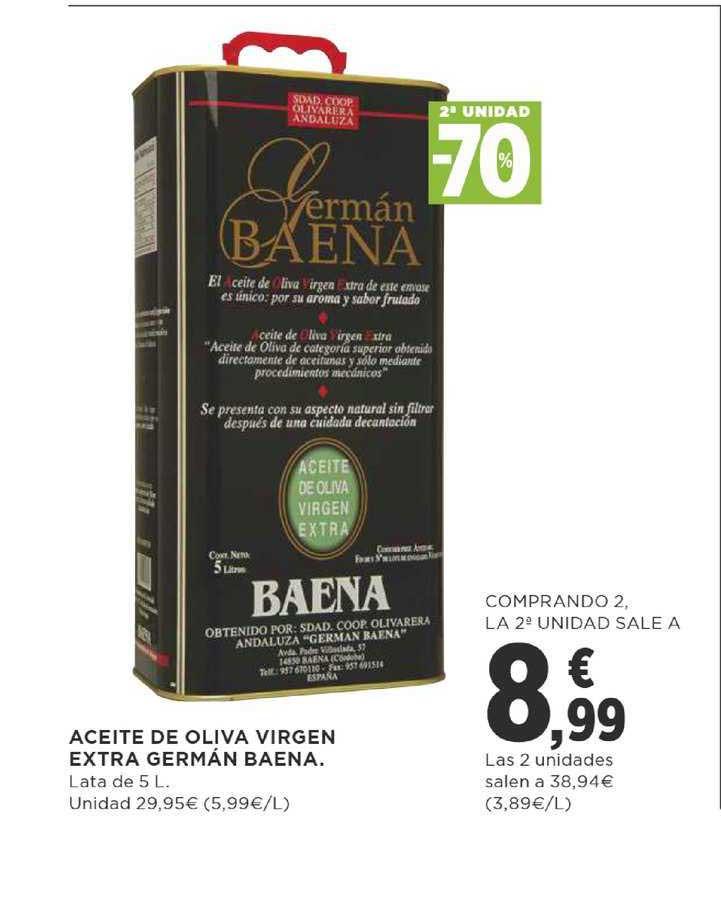 Supercor 2ª Unidad -70% Aceite De Oliva Virgen Extra Germán Baena