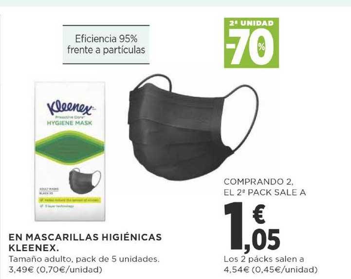 Supercor 2ª Unidad -70% En Mascarillas Higiénicas Kleenex