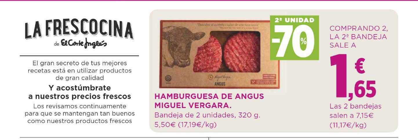 Supercor 2ª Unidad -70% Hamburguesa De Angus Miguel Vergara