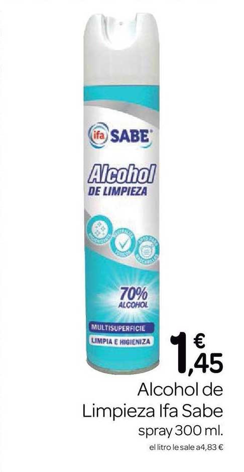 Supermercados El Jamón Alcohol De Limpieza Ifa Sabe