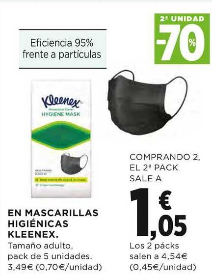 El Corte Inglés En Mascarillas Hygiénicas Kleenex 2a Unidad -70%