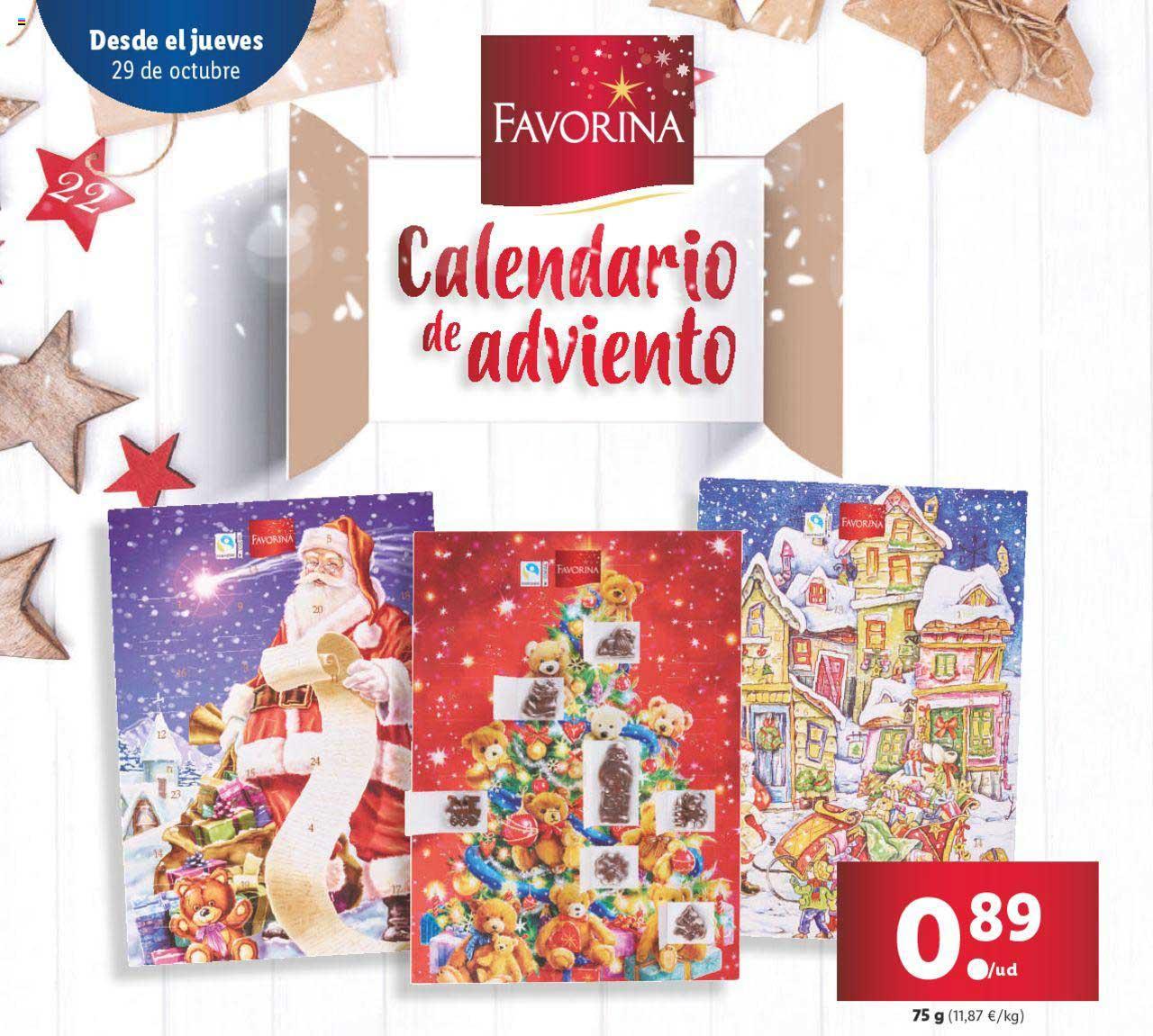 LIDL Favorina Calendario De Adviento