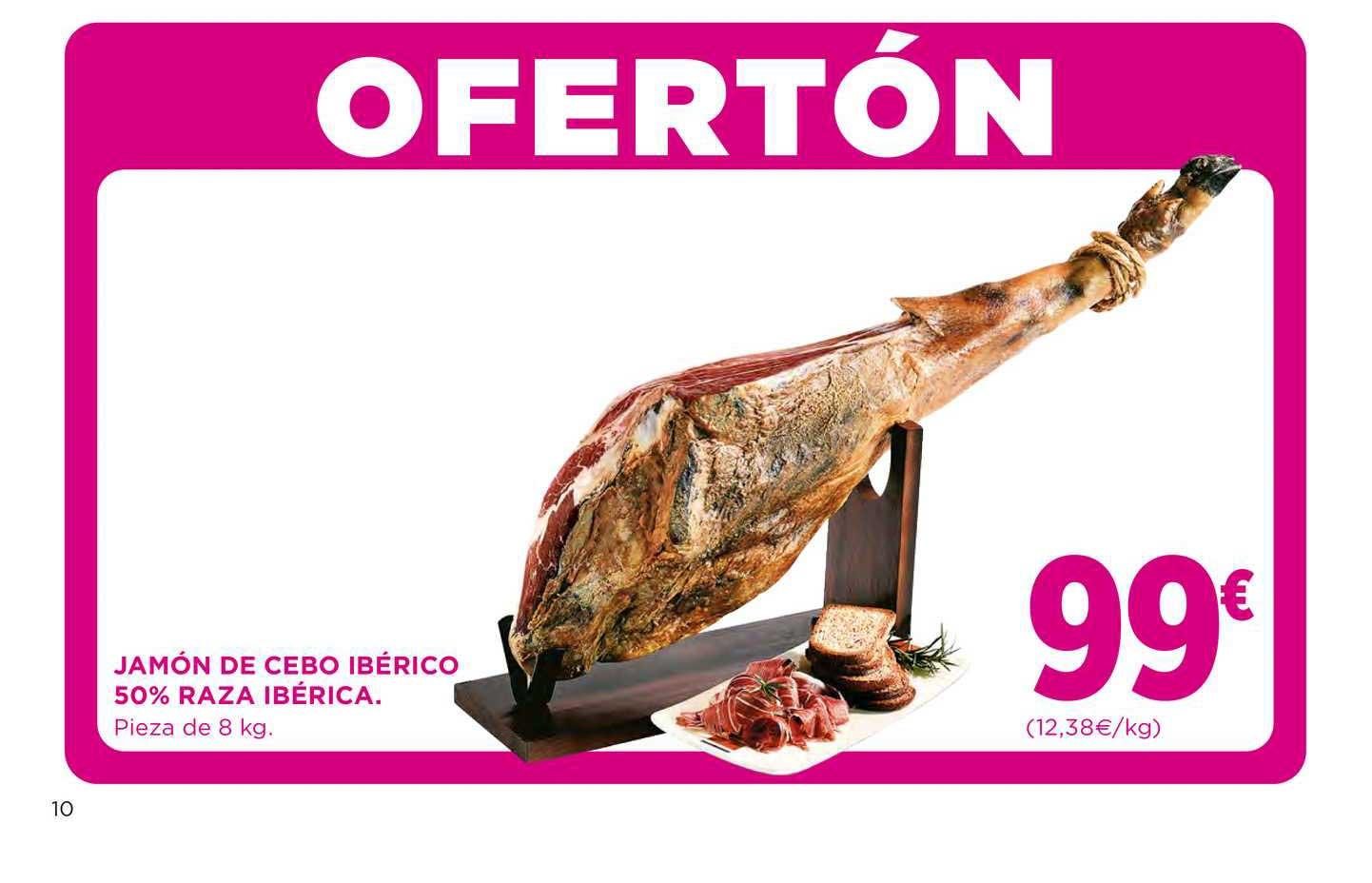 El Corte Inglés Jamón De Cebo Ibérico 50% Raza Ibérica.