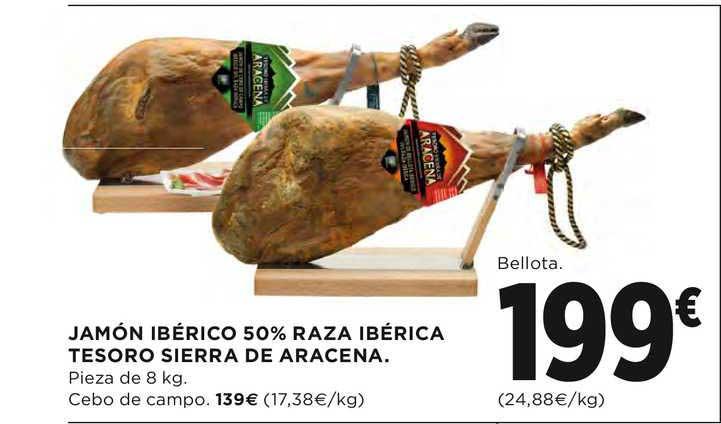 El Corte Inglés Jamón Ibérico 50% Raza Ibérica Tesoro Sierra De Aracena