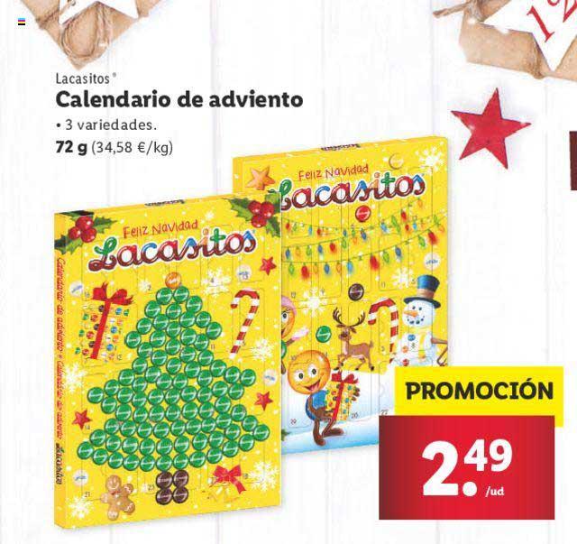 LIDL Lacasitos Calendario De Adviento 72 G