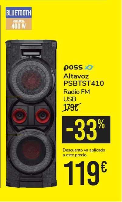 Carrefour -33% Poss Altavoz Psbtst410